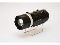 Кемпинговая LED лампа SB 9688 c фонариком и солнечной панелью Черный (45118/1)
