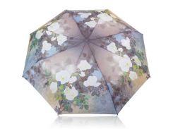 Зонт женский механический компактный облегченный MAGIC RAIN Серый (ZMR1231-1)