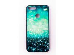 "Чехол-панель Dengos (Back Cover) ""Glam"" для Huawei Y6 Prime 2018, сине-мятный калейдоскоп"