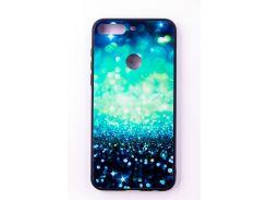 "Чехол-панель Dengos (Back Cover) ""Glam"" для Huawei Y7 Prime 2018, сине-мятный калейдоскоп"