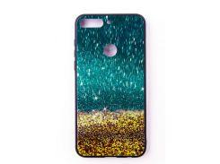 """Чехол-панель Dengos (Back Cover) """"Glam"""" для Huawei Y7 Prime 2018, золотой песок"""