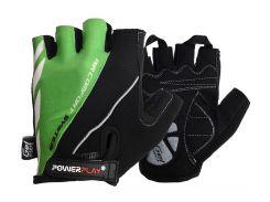 Велорукавички PowerPlay 5024 B Чорно-зелені L