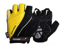Велорукавички PowerPlay 5024 D Чорно-жовті XS