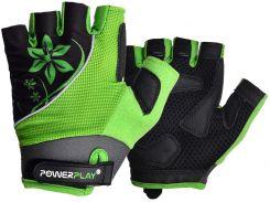 Велорукавички PowerPlay 5281 A Зелені S