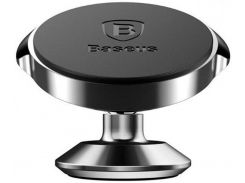 Автодержатель Baseus Small Ears Series Vertical (Genuine Leather) Black (SUER-F01)