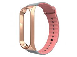 Ремешок Armorstandart Sport Silicone Band для Xiaomi Mi Band 3 Gold/Pink (ARM54517)