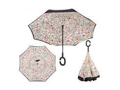 Зонт обратного сложения Up-brella Абстракция (tdx0000043)