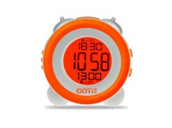 Настольные часы GOTIE с будильником Оранжевые  (GBE-200P)