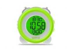 Настольные часы GOTIE с будильником Зеленые  (GBE-200Z)