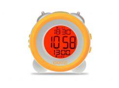 Настольные часы GOTIE с будильником Жёлтые  (GBE-200Y)