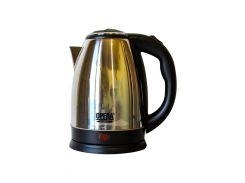 Электрический чайник OPERA 2 л Черный с серебристым (2255)
