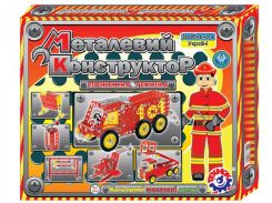 Конструктор ТехноК Пожарная техника металлический 2056 (222444)
