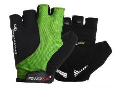 Велоперчатки PowerPlay 5028 A S Черно-зеленые (5028A_S_Green)