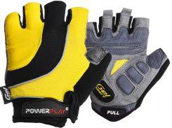 Велорукавички PowerPlay 5037 C L Чорно-жовті (5037C_L_Yellow)