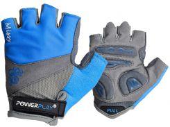Велорукавички PowerPlay 5277 В XS Блакитні (5277B_XS_Blue)