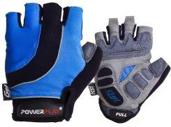 Велорукавички PowerPlay 5037 A M Чорно-блакитні (5037A_M_Blue)