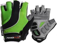 Велорукавички PowerPlay 5037 S Чорно-зелені (5037_S_Green)
