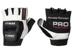 Перчатки для фитнеса и тяжелой атлетики Power System Fitness PS-2300 XS Black/White