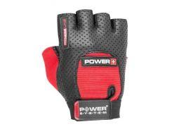 Перчатки для фитнеса и тяжелой атлетики Power System Power Plus PS-2500 S Black/Red