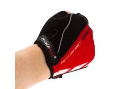 Велорукавички PowerPlay 5024 C Чорно-червоні L (FO835024C_L_Red)