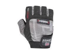 Перчатки для фитнеса и тяжелой атлетики Power System Fitness PS-2300 S Grey/Black (VZ55PS-2300_S_Black-grey)