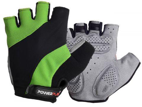 Велоперчатки PowerPlay 5041 A L Черно-зеленые (5041A_L_Green)