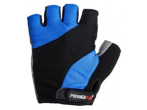 Велорукавички PowerPlay 5041 B XS Чорно-блакитні (5041B_XS_Blue)