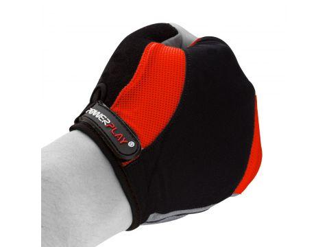 Велорукавички PowerPlay 5041 D M Чорно-червоні (5041D_M_Red)