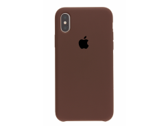 Чехол iG Silicone Case для iPhone XS HQ Chocolate (IGSCIXSCHHQGM)