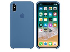 Чехол iG Silicone Case для iPhone X HQ Denim Blue (IGSCIXDBHQGM)