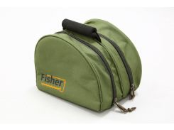 Сумка Fisher рыбацкая 3-х секционная для хранения мелких аксессуаров Оливковый (К019)