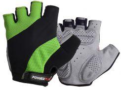 Велорукавички PowerPlay 5041 A Чорно-зелені XS
