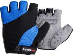 Велорукавички PowerPlay 5041 B Чорно-блакитні XL