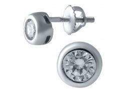 Серебряные серьги SilverBreeze с фианитами (1913642)