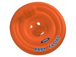 Надувной круг со спинкой Intex 56588 Оранжевый (int56588)