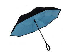 Зонт обратного сложения Up-Brella Голубой + чехол (35000-nri)