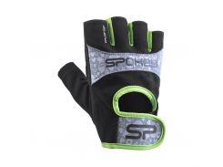 Женские перчатки для фитнеса Spokey Elena II L Черно-зеленый (s0574)
