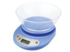 Кухонные электронные весы с чашей до 5 кг Good Idea Синий (hub_FXBc66289)
