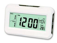 Настольные кварцевые электронные часы с термометром Keenly kk-2616 Белые (hub_vXak18778)