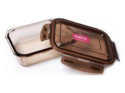 Контейнер для продуктов Fisman Luxor 640 мл стеклянный 17х12х5 см Прозрачный / Коричневый (psg_FN-6524)