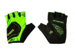 Рукавички велосипедніOnRide Catch M Black-Light Green (2956563230175 )