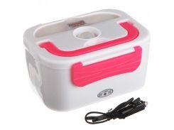 Термо Ланч бокс Electronic Lunch Box 12V Белый с розовым (13014)