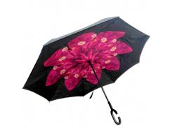 Зонт обратного сложения Up-brella Вишневый цветок (hubber-286)
