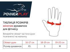 Рукавички для фітнесу PowerPlay 3492 жіночі Чорно-Розові XS (FO83PP_3492_XS_Pink)