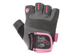 Перчатки для фитнеса и тяжелой атлетики Power System Cute Power PS-2560 женские XS Pink (VZ55PS-2560_XS_Pink)