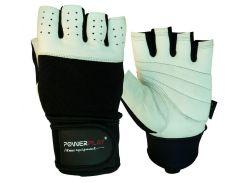 Рукавички для фітнесу PowerPlay 1069 Чорно-Білі S (FO83PP_1069_S_Black/White)
