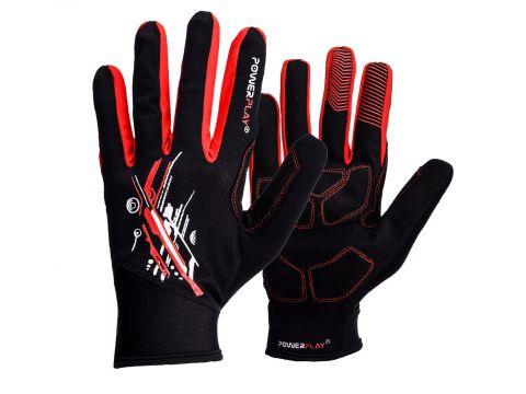 Велорукавички PowerPlay 6607 L Чорно-червоні (PP_6607_L_Red/Black)