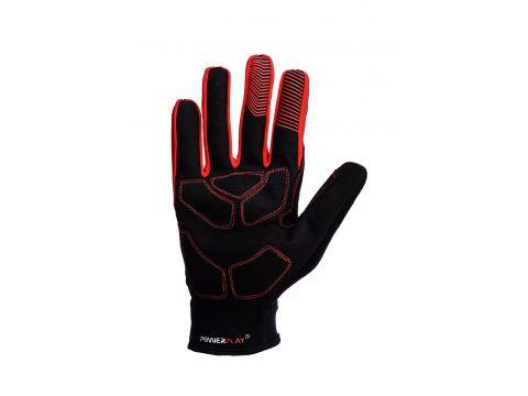 Велорукавички PowerPlay 6607 M Чорно-червоні (PP_6607_M_Red/Black)