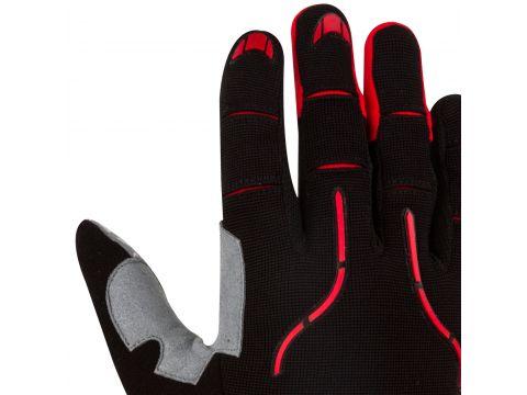 Велорукавички PowerPlay 6662 В L Чорно-червоні (PP_6662_L_Red)