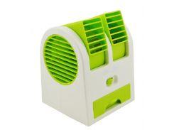 Мини-кондиционер вентилятор Mini Fan UKC HB-168 Green (hub_KzNz95680)